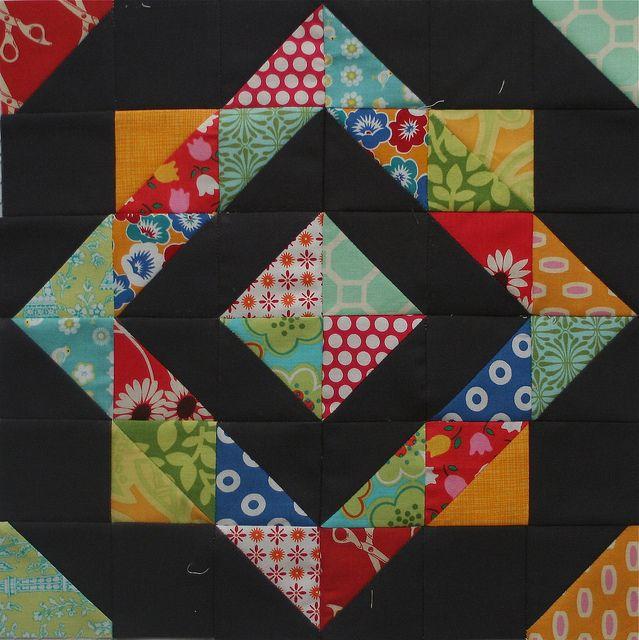 Gorgeous!!Dark Backgrounds, Quilt Block Pattern, Easy Quilt, Half Squares Triangles, Half Square Triangles, Quilt Squares, Quilt Blocks, Block Beautiful, Flickr Tutorials