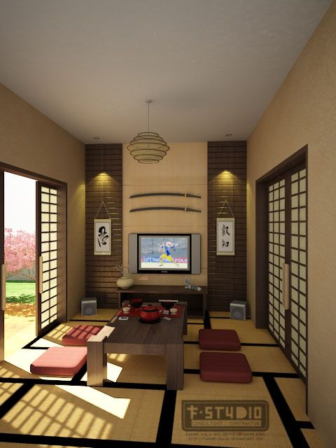 Japanese Living Room by Fakhri-Aulia.deviantart.com on @deviantART