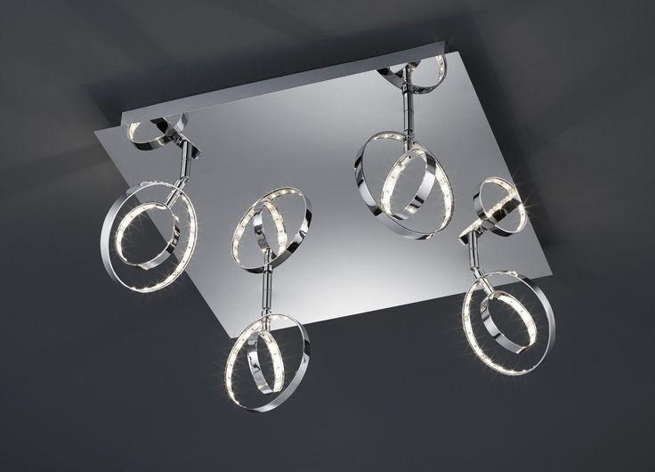 Prater kattovalaisin 4-os. LED 4x4 W kromi    Lampun tyyppi: 4 × SMD 4 W  LED (sis.toimitukseen)  Jännite: 230V  Valoteho: 4 x 400 lumenia  Valon sävy: 3000 kelviniä (lämmin valkoinen)  Kotelointiluokka: IP20 (kuivaan tilaan)  Rungon materiaali: Metalli  Rungon väri: kromi  Korkeus: 20 cm  Halkaisija: 40 x 40 cm  Takuu: 5 vuotta