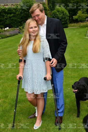Dutch Royals family photocall, Eikenhorst in Wassenaar, The Netherlands - 08 Jul 2016 King Willem-Alexander and Crown Princess Catharina-Amalia 8 Jul 2016