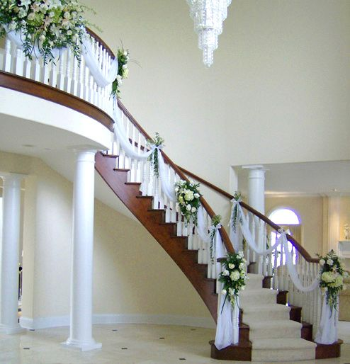Stairway with Fresh Flower Accents- Phillips Floral