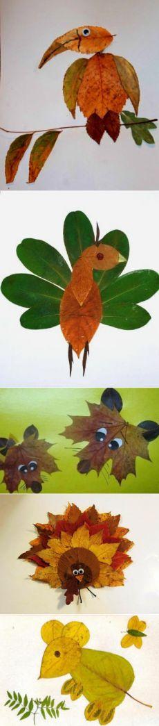 Творчество с детьми. Поделки из листьев. / Дизайн для всех!