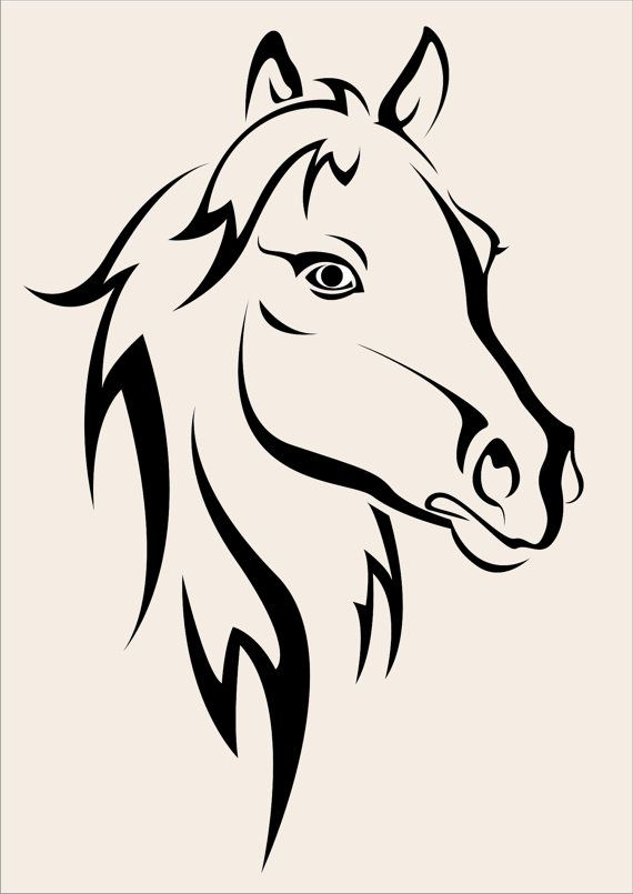 Horse Stencil LARGE 7.3 wide x 11 tall Burlap by SuperiorStencils, $12.50