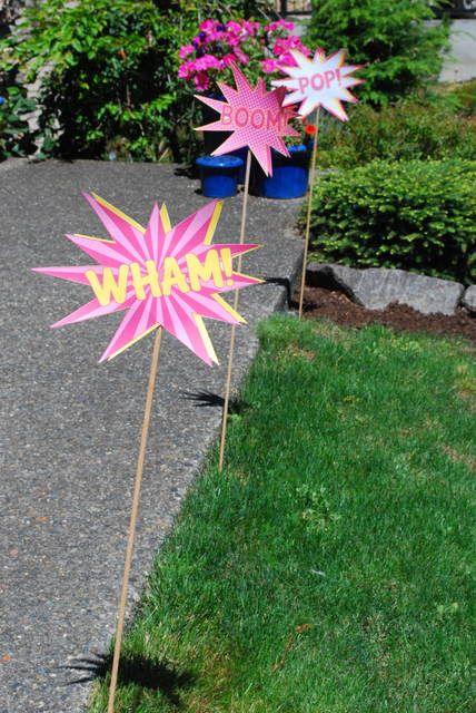"Photo 3 of 24: girly superhero / Birthday ""Pink Superhero Party"" | Catch My Party"