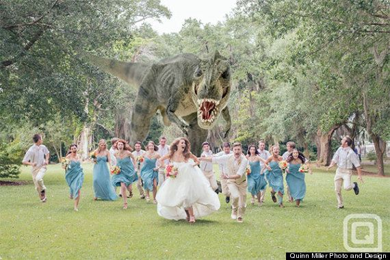 Jurassic Park-inspired wedding photo took the Internet by storm