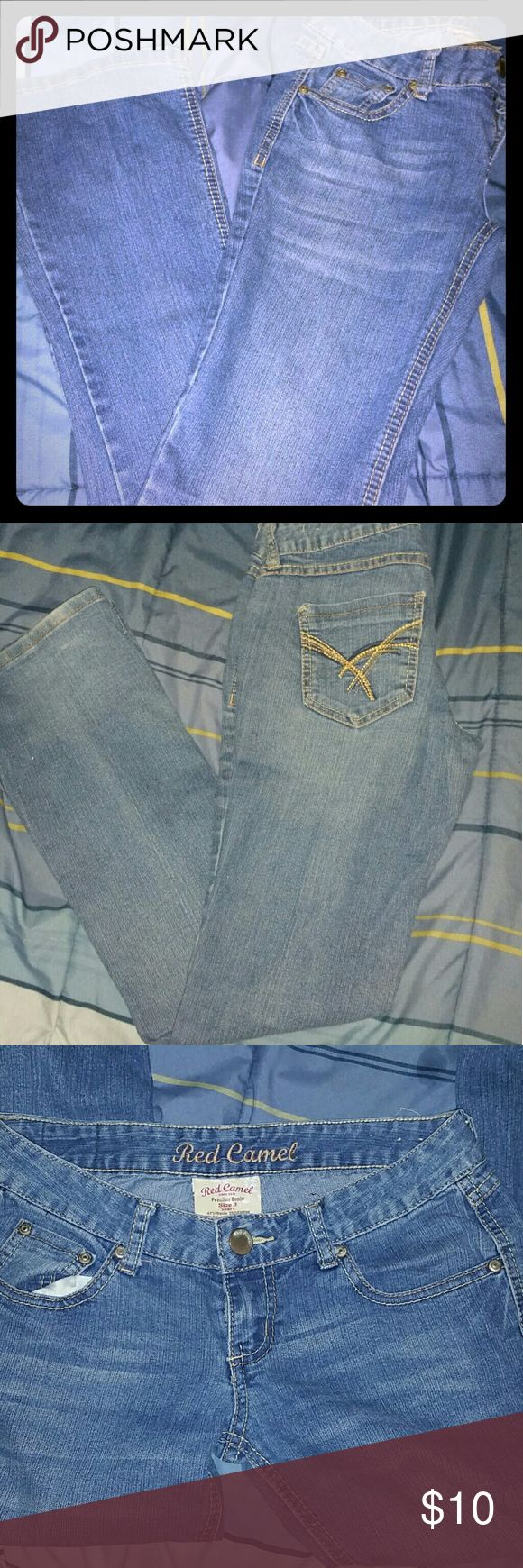 Red camel jeans Size 3 short blue jean premium denim stretch 26w/31l. MUST BE BUNDLED WITH ATLEAST THREE ITEMS ON ALL $5 ITEMS Red Camel Jeans Boot Cut