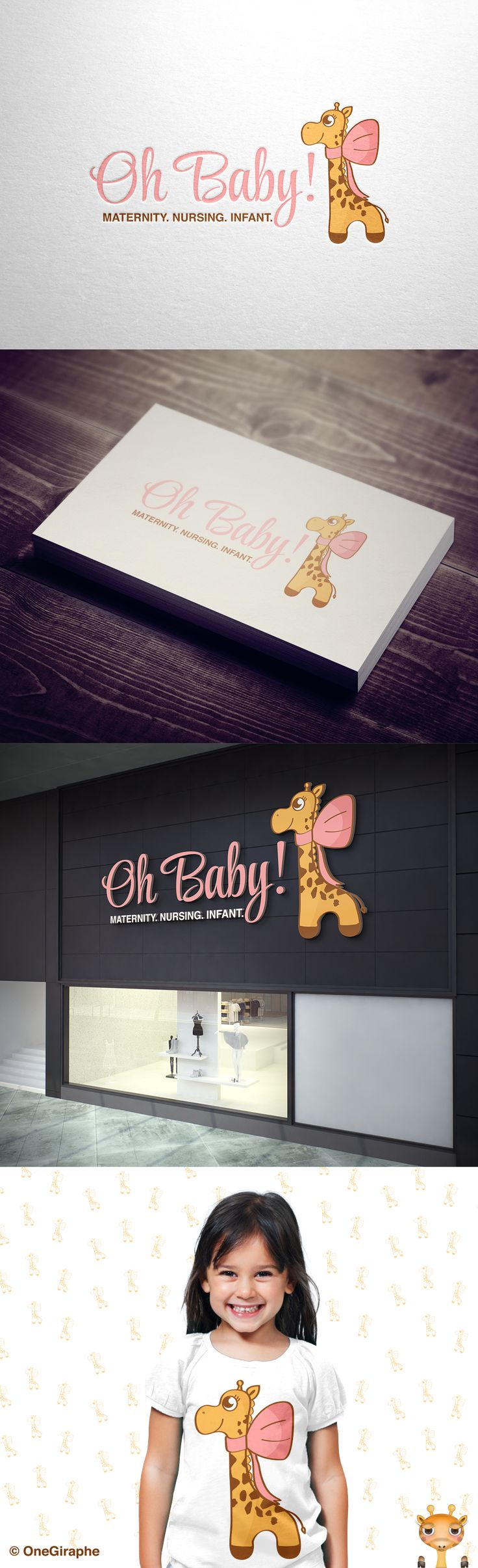 #baby #diaper #giraffe #child #children #mom #mother #girl #care #mothercare #store #shop #logostore #kids #animals #little #cute #logoforsale #logostore #brandstack #logo #logodesign #graphicdesign #logopond #behance #logo