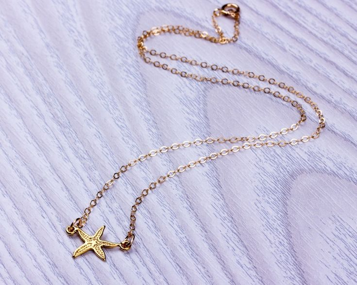 Gold Starfish Necklace • Gold Filled Necklace