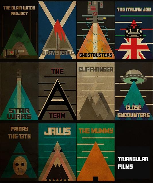 Triangular Minimalist Film Posters.