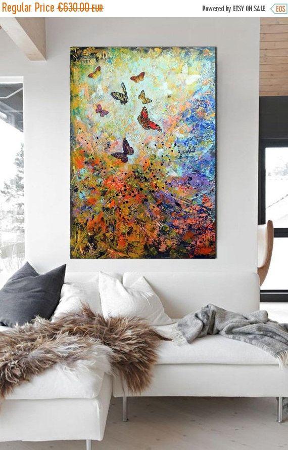 ON SALE 30% off large modern painting  by artstudioAreti on Etsy