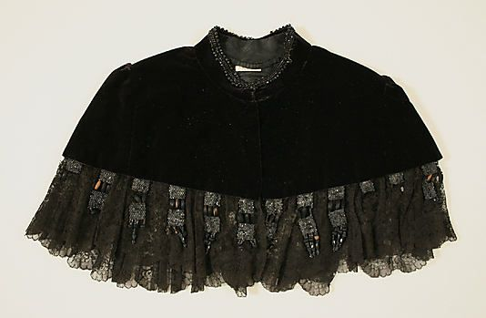 Cape 1883, American, Made of silk