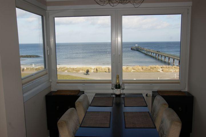 Strandnahe Ostsee-Ferienwohnung Ostseefee mit Meerblick