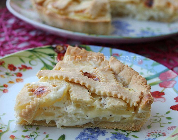 Crostata con patate e formaggio Asiago | ricetta salata blog il mio saper fare