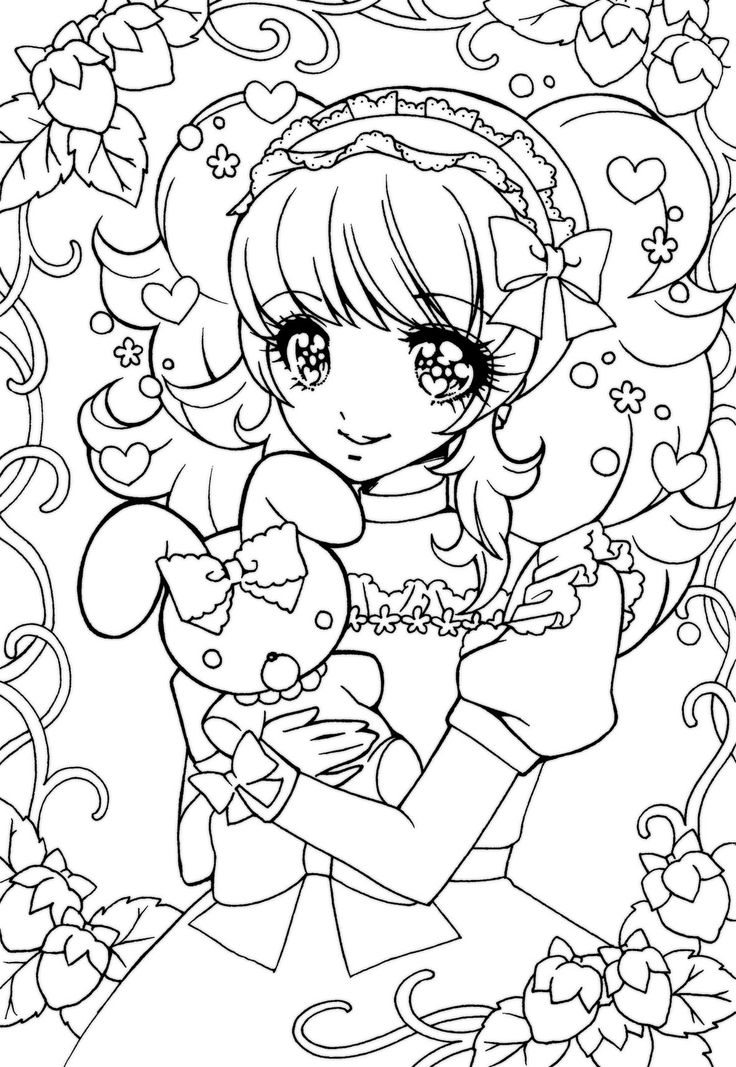 Anime Lineart Coloring Book PagesColoring SheetsAdult