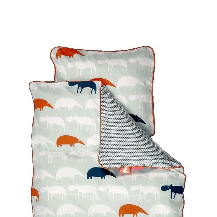 Done by Deer Zoopreme Dekbedovertrek Baby 70 x 100 cm - Blauw