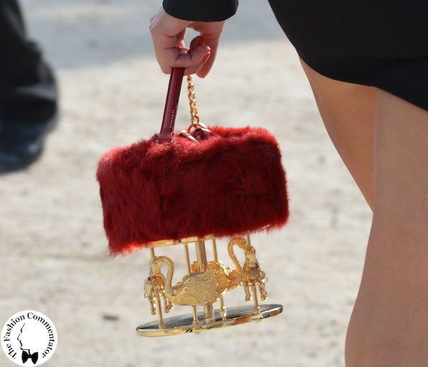 Carousel bag - #streetstyle outside Valentino - Paris Fashion Week