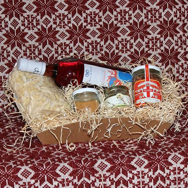 Sinis, cesto regalo con prodotti tipici sardi - SardinianStore. Prodotti Tipici Sardi