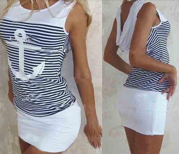 Fashion 2016 Summer Women Dress Sleeveless Casual Striped Ladys' Dresses | Joana's Goodies