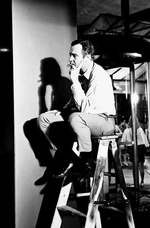 Jack Lemmon on the set of The April Fools, 1968
