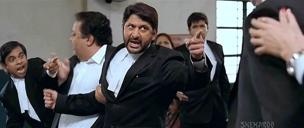 "Arshad Warsi in Jolly LLB (2013) | Tell Me If I'm Wrong (""Jhooth Boliya"", Jolly LLB) #musicmonday http://www.fallinginlovewithbollywood.com/2014/04/tell-me-if-im-wrong-jhooth-boliya-jolly-llb-music-monday.html"