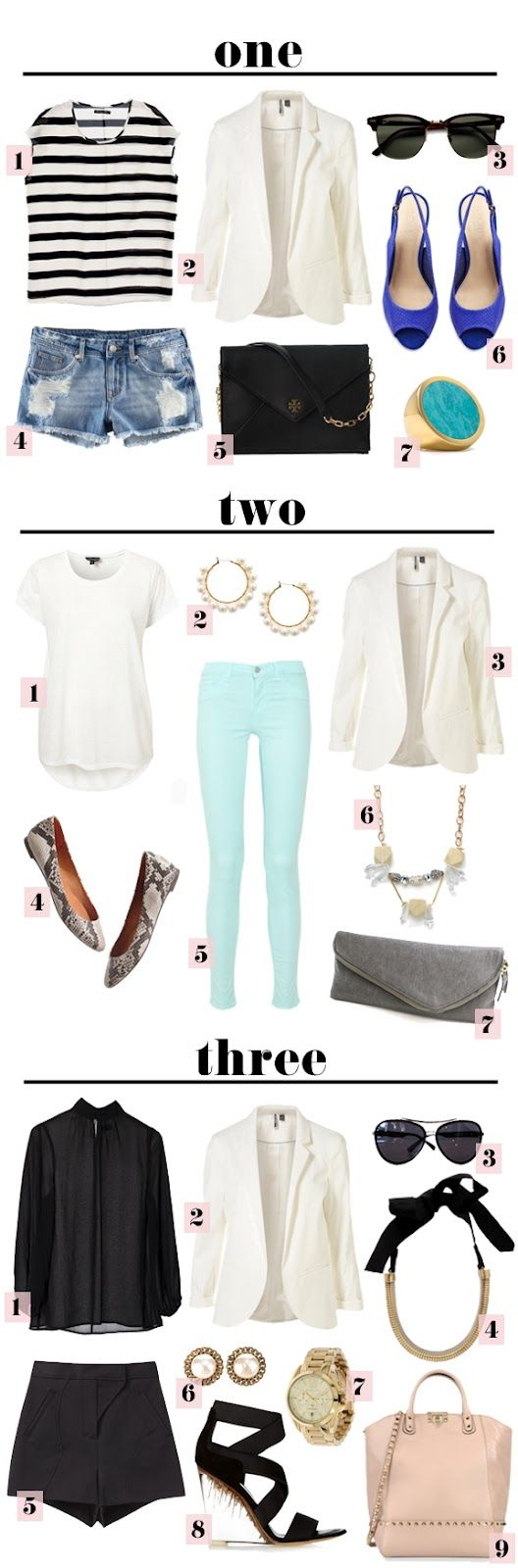 The Vault Files: Blog Series: 1x3 Ways: Light Pink Blazers, Fashion Sen, 1X3 Beautiful, Brunch Outfits, Beautiful Dresses, White Blazers Outfits, Blazers 3, Blog Series, Vaulted File