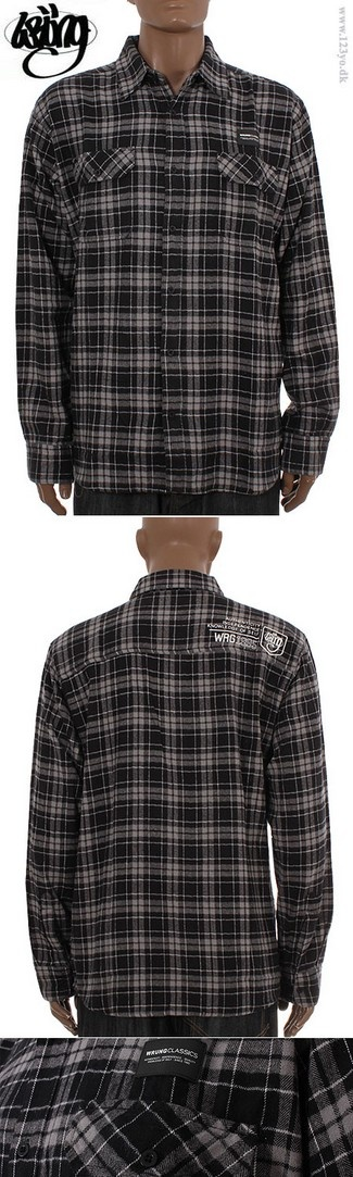 Wrung Division langærmede flannel skovmandsskjorte - køb langærmede skjorter til de bedste priser og billigt hos www.123yo.dk