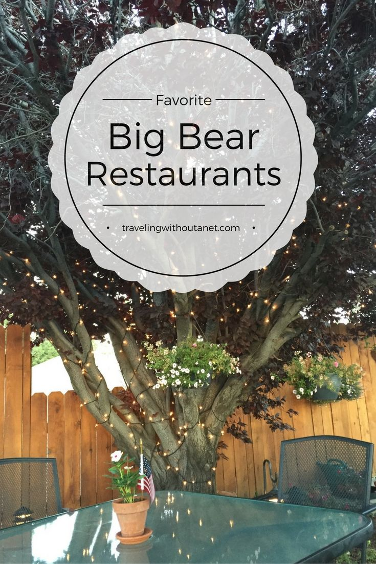 Restaurant recommendations for Big Bear, California #BigBear #Travel #California #FoodandDrink #Dining #Restaurants #MountainTravel #Adventure