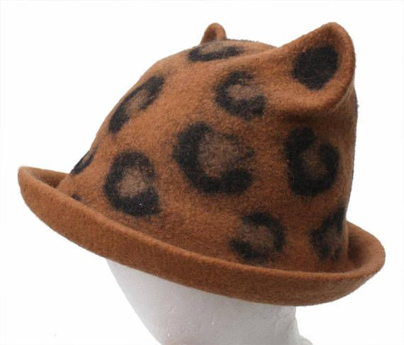 TUTORIAL felting instructions felt felted hat wet nuno felting fleece animal hat Felting Pattern decorating nuno pdf eco diy