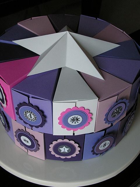 cake box Advent calendar