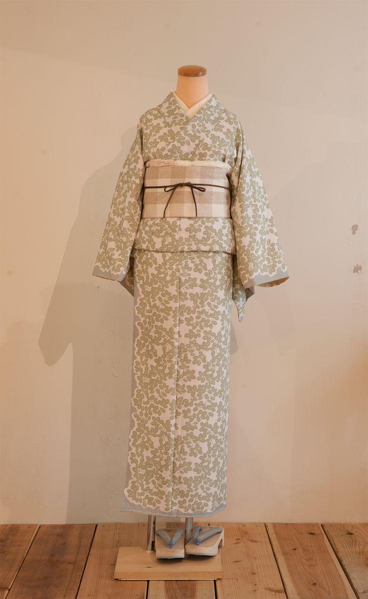 ボタニカル柄オリジナルプリント着物 | 着物、浴衣 さく研究所