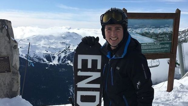 PM Trudeau hits the slopes in Whistler, B.C. #freeski