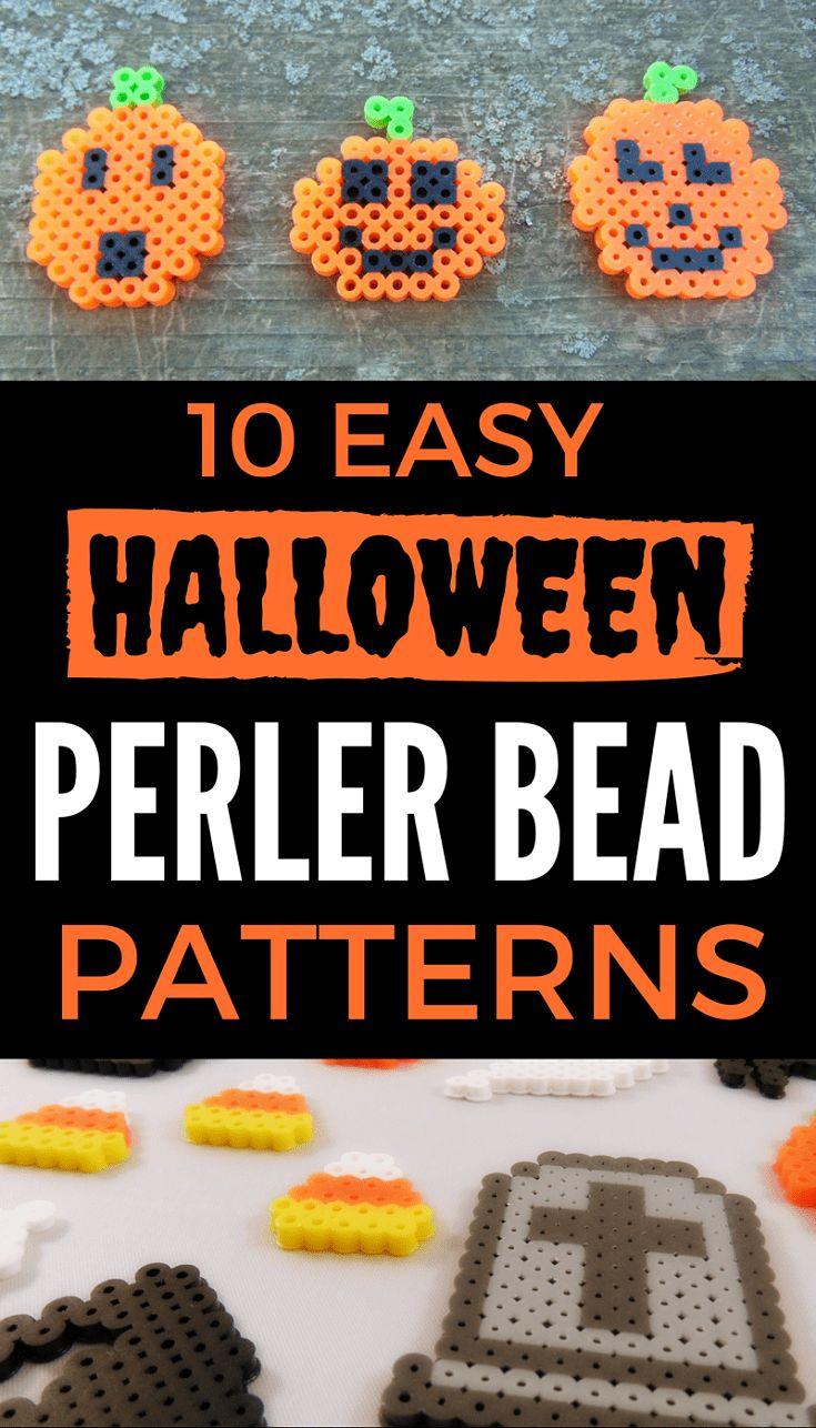 easy Halloween Perler Bead patterns