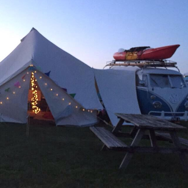 Split screens, bays, T5s, anything with a gutter/awning rail can take our glamping bell tent drive away campervan awning
