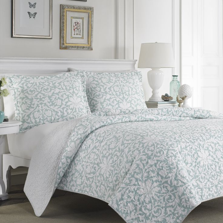 Add A Soft Touch To Your Bedroom With This Beautiful Cotton Blend Quilt Set  By Laura