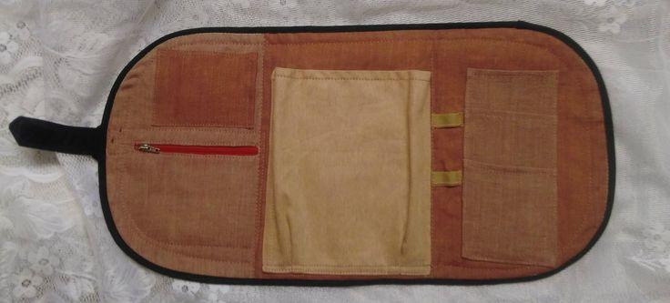 textilní obal na diář otevřený