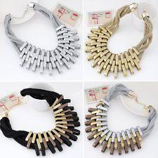 Statement Women Fashion Charm Chain Pendant Choker Bib Collar Necklace