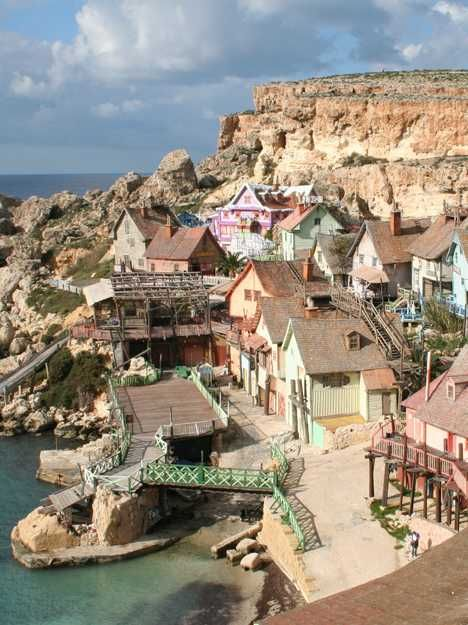 Popeye Village, Sweethaven,  Malta...remembering being there with my husband, daughters and my mom and dad...