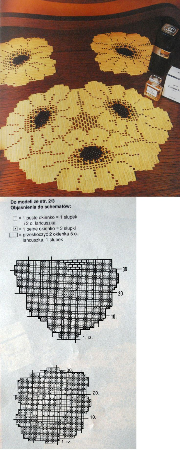 Crochet pattern for a tablecloth