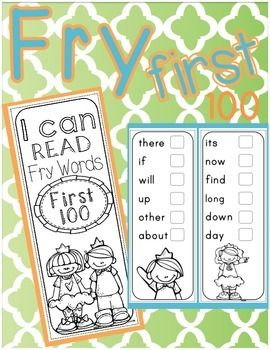 Free Fry Sticker Book - First 100 Fry Words