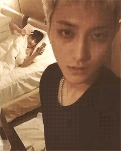 "gosh darn it Lay Tao~!!! What the hell are you two going to do!! Tao is like ""Hey there"" while Lay is dorky and cute enough to wave at the camera~~ keke cute I ship TaoLay keke ;)"