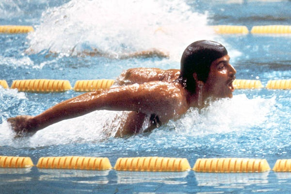 Mark Spitz can legitimately claim the title of second-best American swimmer in history. His mark of seven gold medals in the 1972 Olympics has only been eclipsed by Michael Phelps' record of eight in the 2008 Beijing Games.