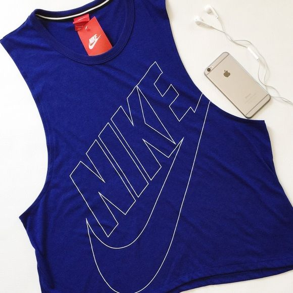 Nike Signal Muscle Tank Top Nike Signal Muscle Tank in royal blue with white logo.