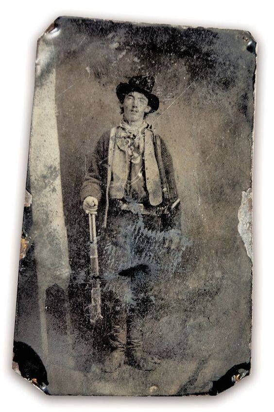 Billy the Kid - This tintype is the only authenticated image of Billy the Kid. Courtesy of William Koch Collection, via True West Magazine