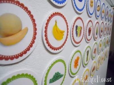 Lunchtime magnets - kids can make their own meal plans.