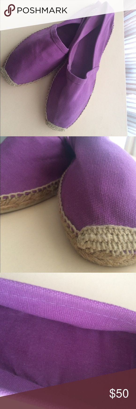 Espadrilles Made in France The Real deal espadrilles !! Gorgeous !! Made in France. Like new condition inside and out. Super cute relaxed but trendy summer shoe. Lavender purple canvas with a rubber sole size 38. Make an Offer! Cousu Main Shoes Espadrilles