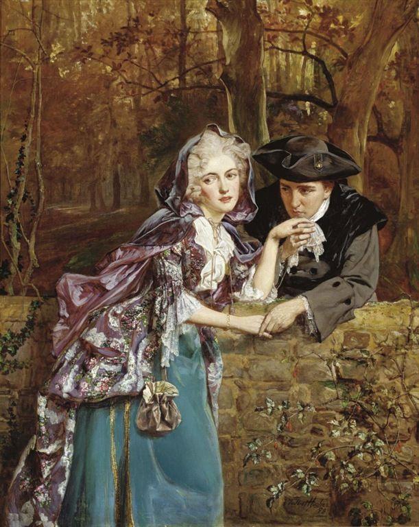 A Secret Assignation - Talbot Hughes