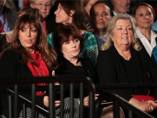 11/02/16 Where is the Mainstream Media? There's a Valid Story, Here ~ Paula Jones, Kathleen Willey and Juanita Broaddrick watch the town hall debate at Washington University on October 9, 2016 in St Louis, Missouri. This is the second of three presidential debates scheduled prior to the November 8th election.