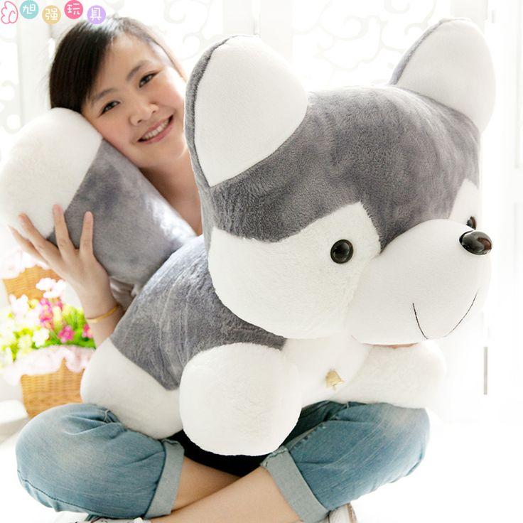Плюшевые игрушки собаки подушку хаски собака 35 см подарок на день рождения t9876