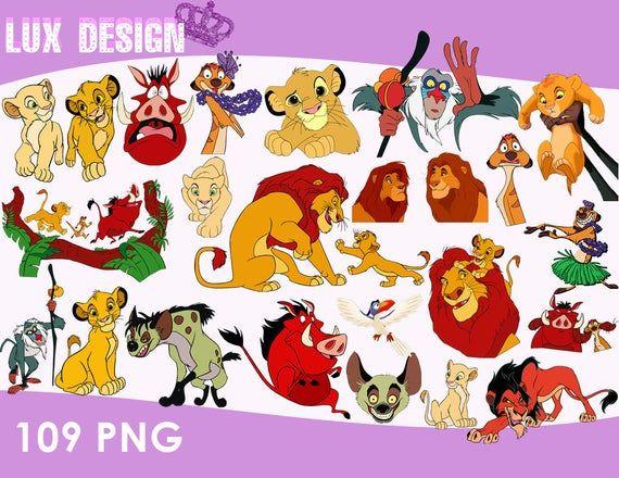 109 The Lion King Clipart Png Images 300dpi Digital Clip Etsy In 2021 Clip Art Lion King Png