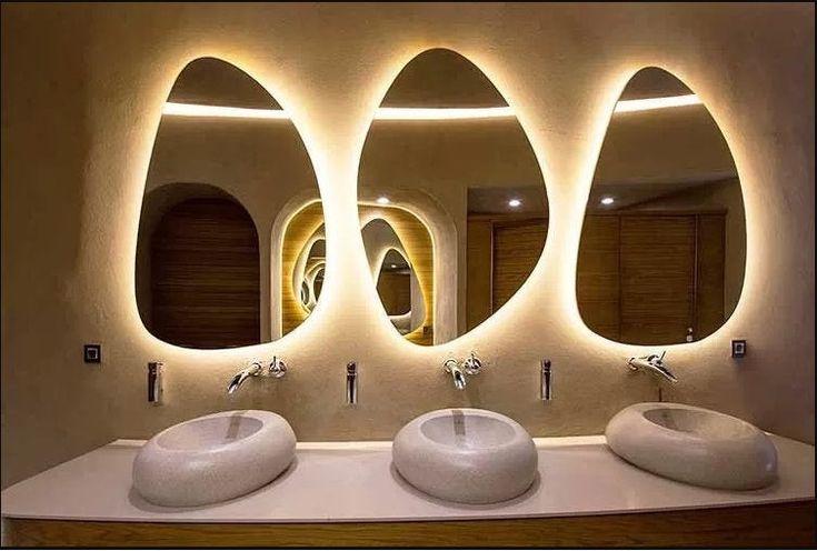 Led Wall Illuminated Vanity Mirror, How To Change Led Bulb In Bathroom Mirror